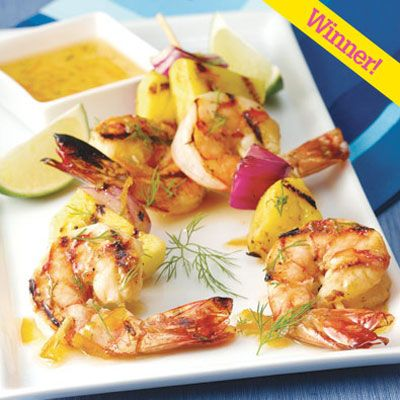 "This light supper dish earned honors for Jason Franklin of Medford, WI, in <i>Quick & Simple</i>'s His Best Recipe contest. <br><br><b>Recipe:  <a href=""/recipefinder/grilled-southern-shrimp-a-lorange-skewers""target=""_blank"">Grilled Southern Shrimp à l'Orange Skewers</a></b>"