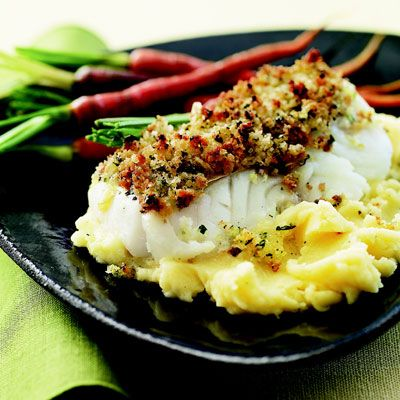 "Breadcrumbs flecked with citrus zest top this succulent roasted cod.<br /><br /> <b>Recipe: <a href=""/recipefinder/roasted-citrus-cod-cheddar-mashed-potatoes-rbk0308""target=""_new"">Roasted Citrus-Crumbed Cod with Cheddar-Sage Mashed Potatoes</a></b>"