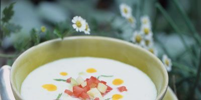"""Homemade curry oil adds a taste of the tropics to this summer favorite.<br /><br /> <b>Recipe: <a href=""""/recipefinder/chilled-cucumber-soup-794""""target=""""_new"""">Chilled Cucumber Soup</a></b>"""