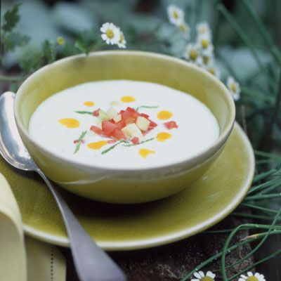"Homemade curry oil adds a taste of the tropics to this summer favorite.<br /><br /> <b>Recipe: <a href=""/recipefinder/chilled-cucumber-soup-794""target=""_new"">Chilled Cucumber Soup</a></b>"