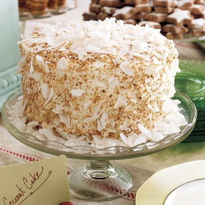 "Layers of rum syrup are hidden within this toasted coconut confection.<br /><br /><b>Recipe:</b> <a href=""/recipefinder/coconut-cake-3906"" target=""_new"">Coconut Cake</a>"