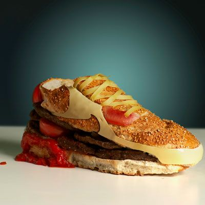 "<b>Creator:</b> Swedish designer <a href=""http://www.bing.com/search?nrv=celeb&q=Olle+Hemmendorff&form=delish"" target=""_blank"">Olle Hemmendorff</a><br /><b>Delicious Details:</b> Air Jordan's got nothing on this these babies. As part of an exhibition, Hemmendorf designed the classic Nike Air Max sneakers using a sturdy sesame baguette, beef patties, pickles, tomatoes, and cheese for the iconic swoosh. Why did Hemmendorf choose the hamburger? He wanted to use  ""the most powerful, most durable, and most delicious material known to man."" <br /><br /><b>Bing:</b> <a href=""http://www.bing.com/places/search?q=Stockholm%2c+Sweden&upgid=31880&qpvt=stockholm%2c+sweden&FORM=delish"" target=""_blank"">The city where the sneaker burger was displayed</a> <br /><b>Find:</b> <a href=""http://www.bing.com/shopping/search?q=air+max&p1=&form=QBRE&aq=air+max&aid=&ct=&qs=n&pq=air+max&sp=&rt=Completions&tk=&spv=&sl=E&sc=&st=&ast=delish"" target=""_blank"">Shop for the real thing</a> <br /><br />Want a bite? Try these <a href=""/entertaining-ideas/parties/barbecue-grilling/grilled-burger-recipes-del0510"" target=""_blank""><b>25 Awesome Grilled Burgers</b></a>"