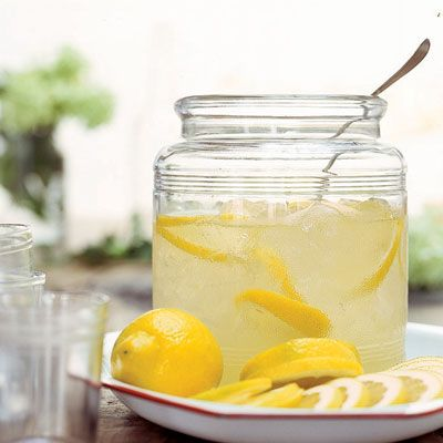 """<p>Nothing tastes more like summer than a refreshing glass of lemonade. Make a pitcher to cool off or for your kids' lemonade stand. For adult parties, try spiked lemonade: Muddle 3 tablespoons of fresh mint in a tumbler. Add ice, 1 ounce rum, and 3/4 cup lemonade. </p><br /> <p><b>Recipe: </b><a href=""""/recipefinder/lemonade-2999"""" target=""""_blank""""><b>Lemonade</b></a></p>"""