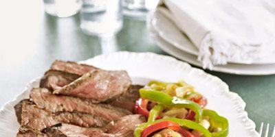 """<p>After trying our tender pan-fried steak with peppers and onions, you'll be seeing the leftover light. All you need the next day is fresh hoagie rolls and some sliced provolone or American — cheesesteaks coming right up!</p><br /><p><b>Recipe: <a href=""""/recipefinder/steaks-peppers-and-onions-recipe"""" target=""""_blank"""">Steaks with Peppers and Onions</a></b></p>"""