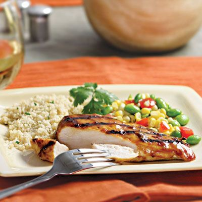 "<p>Chipotle peppers in adobo sauce give a rich smokiness to the quick orange-infused barbecue sauce that tops these grilled chicken breasts. For a killer day-after burrito, layer leftover shredded chicken, leftover sauce, canned black beans, corn, and diced tomatoes in a flour tortilla.</p><br /><p><b>Recipe: <a href=""/recipefinder/chipotle-orange-grilled-chicken-recipe-2029"" target=""_blank"">Chipotle-and-Orange Grilled Chicken</a></b></p>"