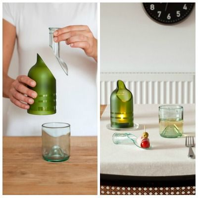 Pure Bottle Recycling Wine Bottles Isn T A New Concept We Put Them In The Turn Into Candlesticks Or Reuse As Water Carafes So