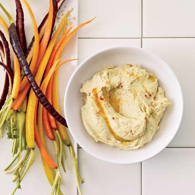 "Hummus — made from mostly ground chickpeas — can do more than cling to a carrot stick. This sublime version, with tahini and smoked paprika, adds nutty flavor to potato salad, eggs, and even soup.<br /><br /><b>Recipe: <a href=""/recipefinder/easy-hummus-tahini-recipe-fw0510"" target=""_blank"">Easy Hummus with Tahini</a></b>"
