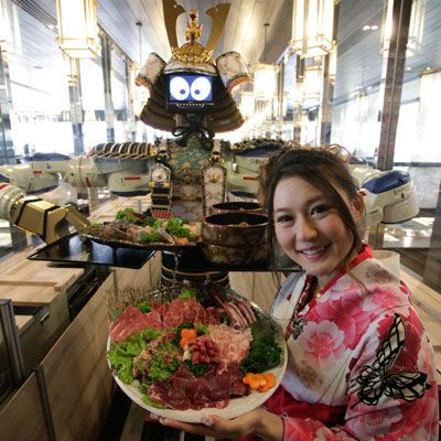 <p><b>Restaurant:</b> Hajime Restaurant, Bangkok, Thailand</p> <p><b>Culinary Concept:</b> Robot run. Owner Lapassarad Thanaphant (pictured) has high hopes for her robot-run restaurant. Thanaphant invested nearly $1 million to purchase four dancing (yes, they also dance!) robots who serve diners Japanese delicacies.</p>