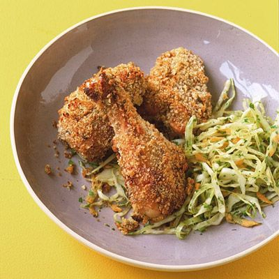 "<p>Served with slaw or potato salad, this chicken dinner will feel like an indoor picnic. Any leftover chicken makes a great school lunch.</p><br /><p><b>Recipe:</b> <a href=""/recipefinder/buttermilk-baked-chicken-recipe"" target=""_blank""><b>Buttermilk Baked Chicken</b></a></p>"