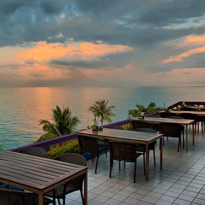"We begin with the appropriately named <a href=""http://www.siamdir.com/dining/restaurants/beverly_hills_restaurant/index.html"" target=""_blank"">Beverly Hills restaurant</a>, a popular spot in Koh Samui, Thailand. Here, guests can relax in the sea breezes and watch the play of light across the water."