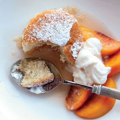 """Chef and Texas restaurateur <a href=""""http://www.cheftimlove.com/"""" target=""""_blank"""">Tim Love</a>'s shortcake reflects his easygoing style: Instead of making individual biscuits or multiple layers, he simply pours the batter into a 9-by-13-inch baking pan. For smaller cakes, bake the batter in 24 muffin tins.<br /><br /><b>Recipe:</b> <a href=""""/recipefinder/peach-shortcake-vanilla-whipped-cream-recipe-fw0710"""" target=""""_blank""""><b>Peach Shortcake with Vanilla Whipped Cream</b></a>"""