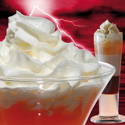 "<p>Would you like some booze with that cream? In 2008, the makers of <a href=""http://www.bing.com/search?q=Whipped+Lightning&go=&qs=ns&form=delish"" target=""_blank"">Whipped Lightning Whipahol</a> answered a resounding yes, and developed this daring 36.5-proof dairy product, which is meant to be enjoyed on top of shots and cocktails, frozen drinks, coffee and espresso drinks, and desserts. Whipped Lightning is now distributed in <a href=""http://www.whippedlightning.com/where.jsp"" target=""_blank"">13 states</a>, but you must be 21 years old to buy. Flavors include amaretto, white chocolate raspberry, tropical passion, and macadamia. Dreamy!</p>"