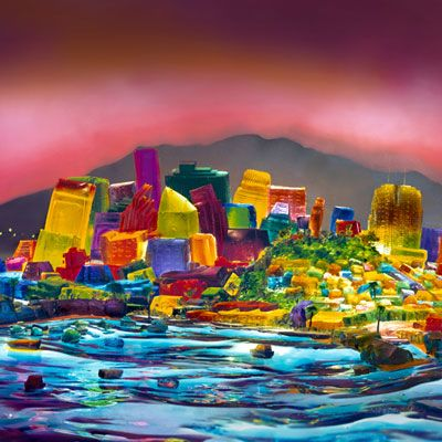 San Francisco-based artist Liz Hickok used Jell-O, gelatin, and food coloring to create her extraordinary scale model of her hometown.