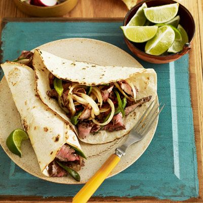 "<p>The possibilities for these Latin staples are endless. Roll up a combo of yesterday's <a href=""/recipefinder/roasted-lemon-chicken-ghk0108"" target=""_blank"">roasted chicken</a>, a scoop of cooked rice, and some canned black beans to make burritos; for beef fajitas, cut up leftover <a href=""/recipefinder/pot-roast-fall-vegetables-recipe"" target=""_blank"">pot roast</a>, and mix it with sautéed peppers and onions.</p><br /><p><b>Recipes:</p><p><a href=""/recipefinder/flank-steak-fajitas-recipe"" target=""_blank"">Flank Steak Fajitas</a> (pictured)</p><p><a href=""/recipefinder/tex-mex-chicken-quesadilla-recipe"" target=""_blank"">Tex-Mex Chicken Quesadillas</a></p><p><a href=""/recipefinder/south-border-burrito-wraps-929"" target=""_blank"">South-of-the-Border Burrito Wraps</a></b></p>"
