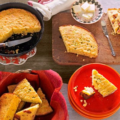 "When it comes to cornbread, skillets remain the gold standard, producing baked goods with crunchy edges and a light, tender crumb. Try this yummy version, laced with cheddar cheese and tarragon. <br /><br /><b>Recipe: <a href=""/recipefinder/cheddar-tarragon-cornbread-recipe"" target=""_blank"">Cheddar-Tarragon Cornbread</a></b>"