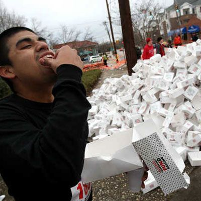 "<p><b>Start Line:</b> North Carolina State University, Raleigh, NC<br /> <b>The Challenge</b>: Run four miles. Must eat a dozen glazed doughnuts after mile two and complete the race in under one hour.<br /> <b>Next Chance:</b> 2013<br /><br /> This <a href=""http://krispykremechallenge.com/"" target=""_blank"">annual student-organized event</a> draws up to 6,000 runners to NCSU's campus to compete in a race that benefits The NC Children's Hospital. Wonder what type of fuel those doughnuts provide after mile two? 2,400 calories, 144 grams of fat, 120 grams of sugar, and 1,140 mg of sodium.</p>"