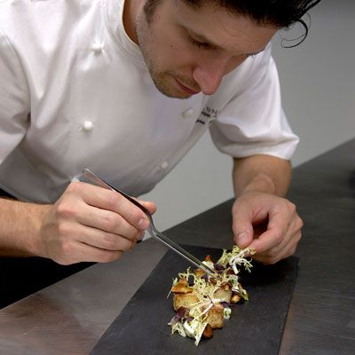 "<a href=""http://www.perennialchicago.com/"" target=""_blank"">Perennial</a> chef Ryan Poli favors Roman-style <a href=""/recipes/cooking-recipes/gnocchi"" target=""_blank"">gnocchi</a>, which he makes by stirring semolina on the stove in an indulgent mix of black-truffle broth, chopped truffles, truffle oil and a little Parmesan butter. Once the semolina firms up, Poli cuts it into precise squares and fries them until they're crisp on the outside, but still creamy inside ($12).<br /> —<i>Tina Ujlaki</i>"