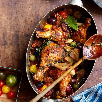 """Braising chicken legs with thighs in an adobo sauce leaves them fork-tender and full of flavor.<br /><br /><b>Get the recipe: <a href=""""/recipefinder/adobo-chicken-recipe""""target=""""_blank"""">Adobo Chicken</a></b>"""
