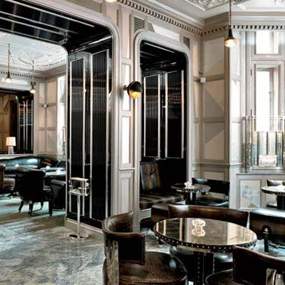 "When the century-old Connaught hotel underwent a $120 million restoration in 2008, the famed Art Deco <a href=""http://www.the-connaught.co.uk"" target=""_blank"">Connaught Bar</a> was updated, too. Among the new features is a martini trolley overseen by white-gloved attendants, who mix premium <a href=""http://www.delish.com/entertaining-ideas/parties/cocktail-parties/smooth-gin-drinks-recipes"" target=""_blank"">gins</a> and <a href=""http://www.delish.com/entertaining-ideas/parties/cocktail-parties/vodka-mixed-drinks-recipes"" target=""_blank"">vodkas</a> with Italian Gancia vermouth. Top London mixologists Ago Perrone and Erik Lorincz preside over the extensive cocktail list; Michelin-starred chef Hélène Darroze oversees snacks like lobster spring rolls."