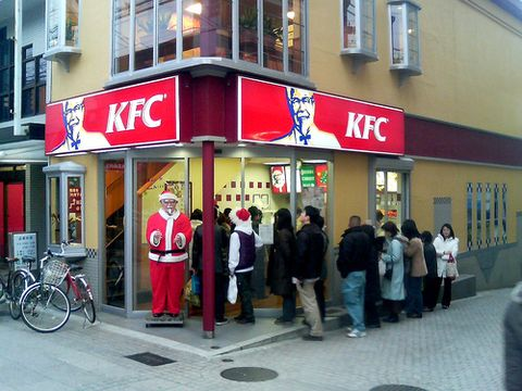 Kfc Japan Christmas.Kfc Is Popular Christmas Food In Japan