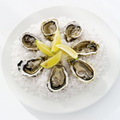"<p>According to Dr. Rosofsky, oysters are sexy for millions of reasons. ""The connection to Aphrodite, their texture, shape, and their nutrients,"" says Rosofsky. They are high in zinc, which is thought to increase testosterone and, according to some reports,  improve sperm quality. Rosofsky adds that oysters often dial up the romance since they are considered a luxury item and are eaten very seductively. ""You suck, slurp, and eat oysters out of your hands."" Or perhaps, someone else's hands? You get the picture.</p><br /> <p><b>Make Your Own Dipping Sauce:</b> <a href=""/recipefinder/asian-mignonette-recipe-5516"" target=""_blank""><b>Asian Mignonette</b></a></p>"