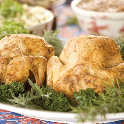 "<p>A true Southern treat, this recipe from Paula Deen will give you a deliciously moist and flavorful set of birds. Truly a no-fuss dish, rosemary adds additional flavor to the beer without adding extra time.</p><br />  <p><b>Recipe:</b> <a href=""/recipefinder/drunken-chicken"" target=""_blank""><b>Drunken Chicken</b></a></p>"