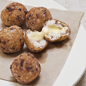 "<p>A creative take on a Southern breakfast favorite — cheese grits — these crispy fried fritters are a tempting snack at any time of day.</p><br /><p><b>Recipe:</b> <a href=""/recipefinder/grits-fritters-country-ham-cheese-recipe-clx0311"" target=""_blank""><b>Grits Fritters with Country Ham and Cheese</b></a></p>"