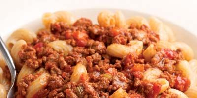 """<p>This classic pairing is made with homemade tagliatelle or pappardelle, but it also works with rigatoni, shells, or any other substantial pasta shape that has the nooks and cavities necessary to trap the sauce.</p><br /><p><b>Recipe:</b> <a href=""""/recipefinder/ragu-alla-bolognese-classic-bolognese-meat-sauce-recipe"""" target=""""_blank""""><b>Ragù alla Bolognese (Classic Bolognese Meat Sauce)</b></a></p>"""