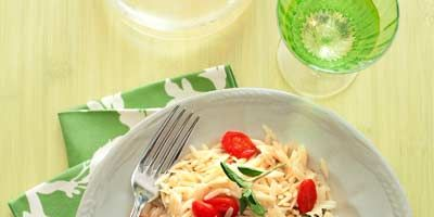 """<p>This healthy Mediterranean fish dish boasts fresh oregano leaves, grape tomatoes, and orzo. Sounds pretty perfect.</p><br /> <p><b>Recipe: </b><a href=""""/recipefinder/greek-style-tilapia-recipe"""" target=""""_blank""""><b>Greek-Style Tilapia</b></a></p>"""