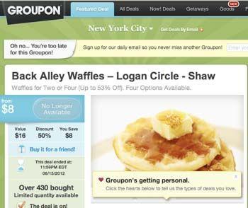 Washington Dc Back Alley Waffles Blames Groupon For Demise