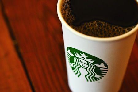 Starbucks white cup green mermaid