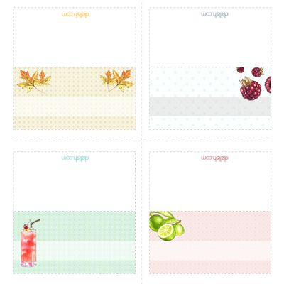 "<p>Full of fun and festive designs, this sheet of printable place cards is perfect for your next gathering, no matter what the theme. Mix and match however you'd like, whether it's based on the type of party you're throwing or the personality of your guests. It's a quick way to add a personalized touch.</p><br />  <p><a href=""/cm/delish/printables/all_placecards.pdf"" target=""_new"">Print this design!</a></p>"