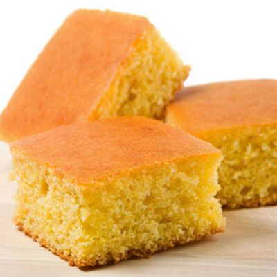 <p>Recipe courtesy of King Arthur Flour.</p><br />  <p><strong>SERVINGS</strong></p> <p>8</p><br />  <p><strong>INGREDIENTS</strong></p> <p>2 cups whole cornmeal</p> <p>1 cup whole wheat pastry flour 1 cup unbleached all-purpose flour</p> <p>2 teaspoons baking powder</p> <p>1 teaspoon baking soda</p> <p>1 teaspoon salt</p> <p>2 cups buttermilk</p> <p>1/4 cup honey</p> <p>2 large eggs</p> <p>1/2 cup (1 stick, 4 ounces) unsalted butter, melted</p> <p>1 tablespoon butter to grease the pan</p><br />  <p><strong>PREPARATION</strong></p> <p>1. Preheat the oven to 400 degrees F. Butter a 9-inch square   pan.</p><br />  <p>2. Whisk together the cornmeal, flours, baking powder, baking soda and   salt in a large bowl. Whisk together the buttermilk, honey, eggs and   melted butter in a separate bowl. Add, all at once, to the dry   ingredients, stirring quickly and lightly just until the batter is evenly   combined.</p><br />  <p>3. Pour the batter into the prepared pan and bake until the top is   golden brown and a knife or cake tester inserted in the center comes out clean, 25 to 30 minutes. Remove from the oven and serve warm.</p>