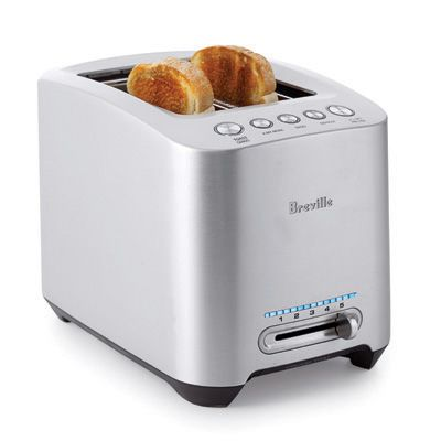 "This top performer consistently produced perfect toast.<br> <b>Pros:</b> ""Lift and Look"" lets you check the toast color without canceling the program, and the ""A Bit More"" option extends cooking time.<br> <b>Cons:</b> Took longer to toast than others (about 2.5 minutes), and it's on the pricey side."