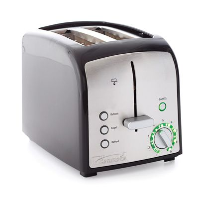 "Our ""best value,"" it performed excellently for only $30.<br /> <b>Pros:</b> Its many features include bagel, defrost, and reheat settings — unexpected at this price.<br /> <b>Cons:</b> It gets hot on the top surface."