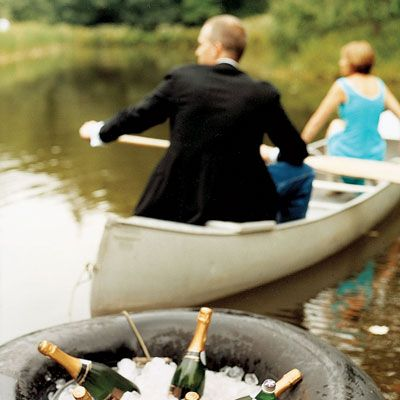 "A black-tie dinner served at a table reachable only by a canoe trip across a pond? It sounds the stuff of romance novels, but such was the setting of the ""outdoor supper"" hosted by Country Living contributing editor Randy Florke and partner, Sean Maloney, at their Sullivan County, N.Y., farm."