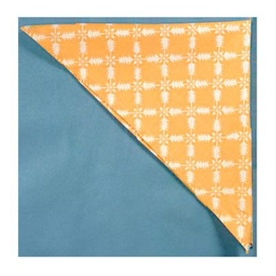 <p>Fold the napkin in half diagonally.</p><br /><p>Fold the napkin in half again to create a smaller triangle.</p><br /> <p>Position the napkin with the folded edge on the right.</p><br />