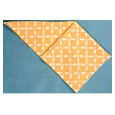 <p>Lift up the top layer of fabric.</p><br /> <p>Place a finger inside the pocket.</p><br /> <p>Spread and flatten the napkin as shown.</p><br /><p>Turn the napkin over, and repeat on the opposite side.</p><br /><p>You will have created two squares.</p><br />