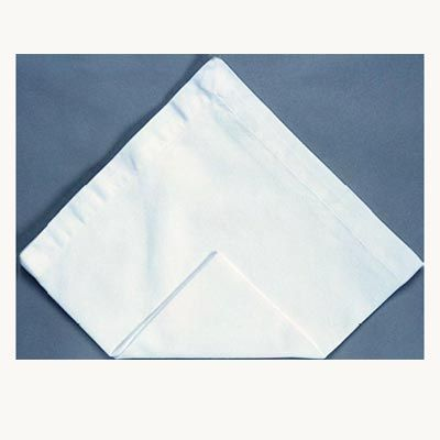 <p>Start with a napkin laid flat.</p><br /> <p>Bring the