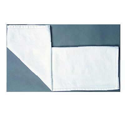<p>Hold the center point of the bottom edge with your finger, and fold the left half of the strip up diagonally.</p><br />  <p>Align the edge with the center crease.</p><br /> <p>Repeat with the right half of the napkin.</p><br /><p>Flip the napkin over.</p><br />