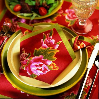 <p>Use it with a simple floral print napkin for best effect.</p><br />