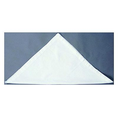 <p>Fold the napkin in half diagonally.</p><br /><p>Place the open point at the top.</p><br />