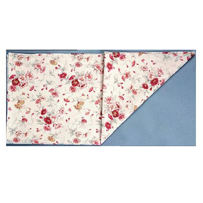 <p>Fold the napkin in half horizontally.</p><br /><p>Position the folded edge at the bottom.</p><br /> <p>Fold the napkin in half again from left to right to