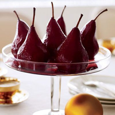 "Dessert doesn't get any more simple, elegant, or waist-whittling than this Shiraz-drenched stunner: It comes in at 200 calories, with 1 gram of fat, and the red wine is brimming with cancer-fighting resveratrol. Try our <u><a href=""/recipefinder/wine-poached-pears-ghk1207"" target=""_blank"">Wine-Poached Pears recipe</a></u>."