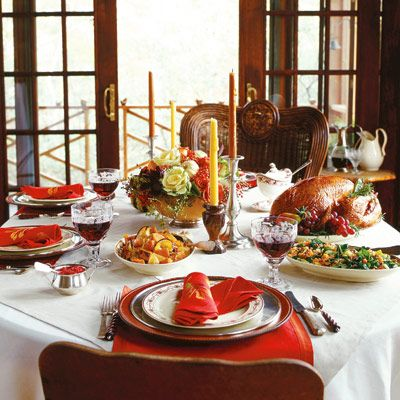 Serving a sumptuous Thanksgiving feast can be an exciting prospect, especially when the entertaining is fuss-free. All it takes is a little planning and recipes that are delicious and simple to prepare. For Shirlene and Mark Brooks, in Otto, N.C., this means creating an occasion that draws on their country lifestyle. Thanksgiving classics--turkey roasted with butter and white wine, glazed ham, and cornbread stuffing--are served on a table decked with simple holiday touches. Side dishes, inspired by the Southern setting include: a savory cheese grits pudding, a quick-to-prepare version of hopping John (a stew of collard greens and black-eyed peas), and honey-glazed yams. Pumpkin cream pie ends the holiday meal. Follow our recipes, entertaining tips, and step-by-step plan so, like the Brooks, you too can host an uncomplicated yet unforgettable Thanksgiving.