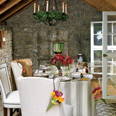 <p>This year, start with a theme that reflects both the beauty and the spirit of the Thanksgiving season. Bring out your best china, silver, linens, and crystal and dress the table with personality, striking the perfect balance between traditional and modern. Then, set your party's style with a lively mix of heirloom china and paper.</p>