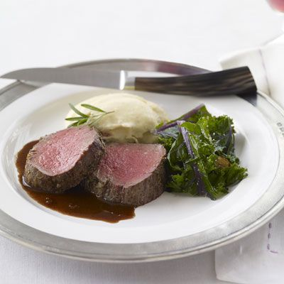 """<p>Try something different this holiday season. Pinot Noir, with its hints of berry jam and black pepper, makes a lusciously well-balanced sauce for this toothsome roasted fillet of beef.</p><br /><p><b>Recipe: <a href=""""/recipefinder/rosemary-beef-pinot-noir-recipes"""" target=""""_blank"""">Roasted Rosemary Fillet of Beef with Pinot Noir Sauce</a></b></p>"""