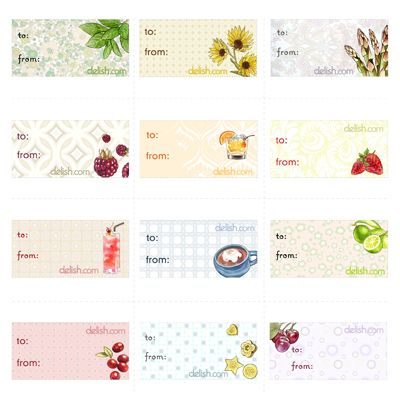 "<p>Perfect for the foodie in your life, or a kitchen-friendly present, this sheet of gift tags has all sorts of tasty designs, ranging from summer-kissed strawberries to fun and friendly basil. They're great for use all year long, giving all your gifts a personalized touch.</p><br />  <p><a href=""/cm/delish/printables/all_gift_tags.pdf"" target=""_new"">Print this design!</a></p>"