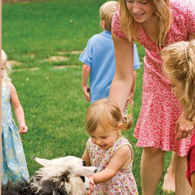 Skip into spring with a carefree party that invites everyone to gather together to enjoy the outdoors. Eager young legs will thrill at the opportunity to jump and run. And everyone will welcome the sweet smell of new grass and the cheerful bursts of color beginning to emerge in the garden.