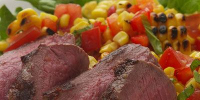 """<p>Throw a steak on the grill, pair with a generous serving of mashed potatoes or a heaping plate of hot veggies, and you've got yourself quite a meal. Enhance the succulent flavors by pouring a Cabernet Sauvignon from California. </p><br /> <p><b>Pictured Recipe: </b><a href=""""/recipefinder/grilled-steak-fresh-corn-salad-recipe-5353"""" target=""""_blank""""><b>Grilled Steak with Fresh Corn Salad</b></a></p> <p><b>More Ideas for Steak:</b><br /> <a href=""""/recipefinder/grilled-steak-churrasco-martinez-recipe"""" target=""""_blank""""><b>Grilled Skirt Steak (Churrasco)</b></a>, <a href=""""/recipefinder/grill-marinated-flank-steak-recipes"""" target=""""_blank""""><b> Marinated Flank Steak</b></a>, and <a href=""""/recipefinder/steak-diane-recipe-10145"""" target=""""_blank""""><b>Steak Diane</b></a><br />  <b>Try These Bottles:</b> Duckhorn Cabernet Sauvignon and Jordan Cabernet Sauvignon"""